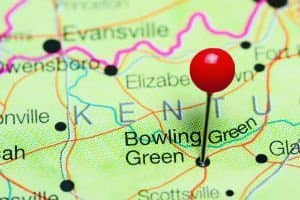 pin on map of bowling green