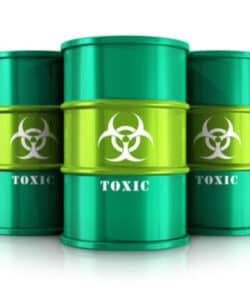 image of green toxic bins