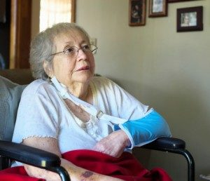 Elderly woman who has suffered nursing home abuse