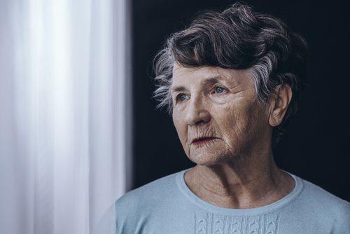 elder lady in nursing home